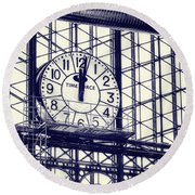 Principe Pio Clock Round Beach Towel by Joan Carroll