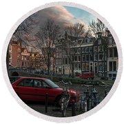 Prinsengracht 791. Amsterdam. Round Beach Towel