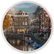 Prinsengracht 807. Amsterdam Round Beach Towel