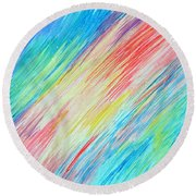 Prismatic Shore Round Beach Towel