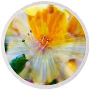 Prisms Of Nature - Meditation - Rhododendron  Round Beach Towel