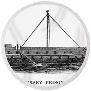 Prison Ship: Jersey Round Beach Towel