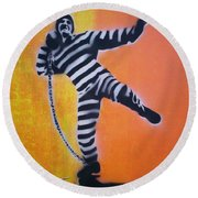 Prisoner Shotput Round Beach Towel