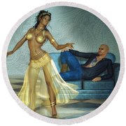 Private Dancer Round Beach Towel