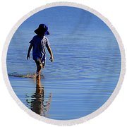 Private Moment Round Beach Towel