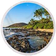Private Paradise Round Beach Towel