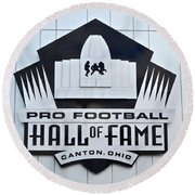 Pro Football Hall Of Fame Round Beach Towel
