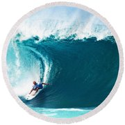 Pro Surfer Kelly Slater Surfing In The Pipeline Masters Contest Round Beach Towel