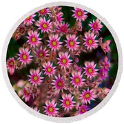 Promising Pink Petals Abstract Garden Art By Omaste Witkowski Round Beach Towel