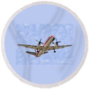 Propelling On In By Diana Sainz Round Beach Towel