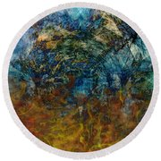 Prophecy Round Beach Towel by Christopher Gaston
