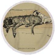 Propitation, 1930, 1st Edition Round Beach Towel