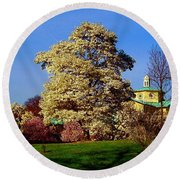 Prospect Park In Brooklyn II Round Beach Towel