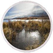 Protected Wetlands Round Beach Towel