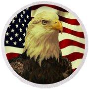 Proud American Round Beach Towel