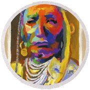 Proud Native American Round Beach Towel