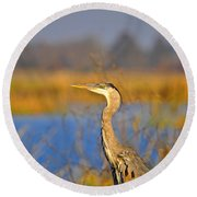 Proud Profile Round Beach Towel