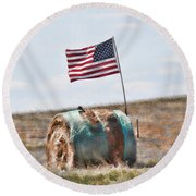 Proud To Be An American Round Beach Towel