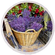Provence Lavender Round Beach Towel