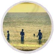Provincetown Friends Round Beach Towel