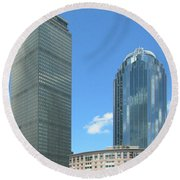 Prudential Building 2960 Round Beach Towel