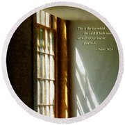 Psalm 118 24 This Is The Day Which The Lord Hath Made Round Beach Towel