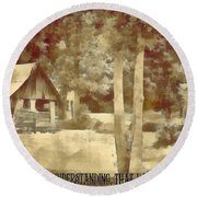Psalm 119 125 Round Beach Towel
