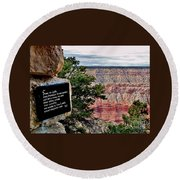 Psalm 68 - Grand Canyon Round Beach Towel