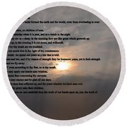 Psalm 90 Round Beach Towel by Bill Cannon