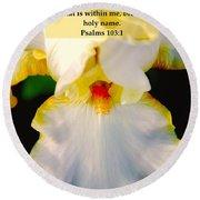 Psalms 113 V 1 Round Beach Towel