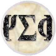 Psi Sigma Phi - Parchment Round Beach Towel