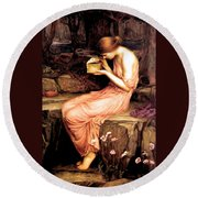 Psyche Opening The Golden Box 1903 Round Beach Towel