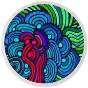 Psychedelia 5 Round Beach Towel