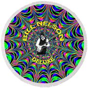Psychedelic Bill Nelson Deluxe Round Beach Towel