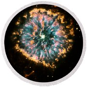 Psychedelic Dandelion  Round Beach Towel