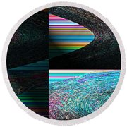 Psychedelic II Round Beach Towel