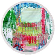 Psychedelic Object.2 Round Beach Towel
