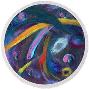 Psychedelic Winds Round Beach Towel