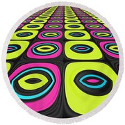 Psychel - 005 Round Beach Towel by Variance Collections