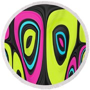 Psychel - 006 Round Beach Towel by Variance Collections