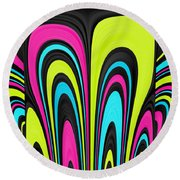 Psychel - 007 Round Beach Towel by Variance Collections