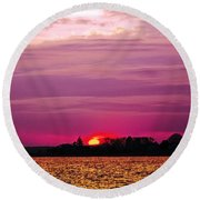 Psychoactive Sunset Round Beach Towel