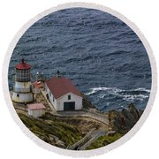 Pt Reyes Lighthouse Round Beach Towel