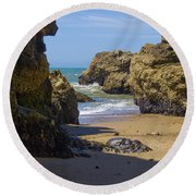 Pt Reyes National Seashore Round Beach Towel