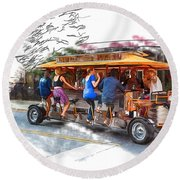 Pubcycle Round Beach Towel