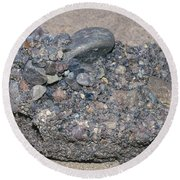 Puddingstone Conglomerate Round Beach Towel