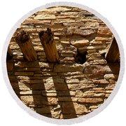 Pueblo Bonito Wall Round Beach Towel
