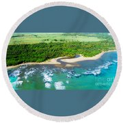 Puerta Plata Coastline Round Beach Towel