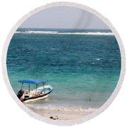 Puerto Morelos Round Beach Towel