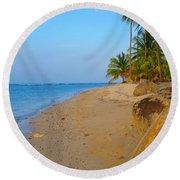 Puerto Rico Beach Round Beach Towel